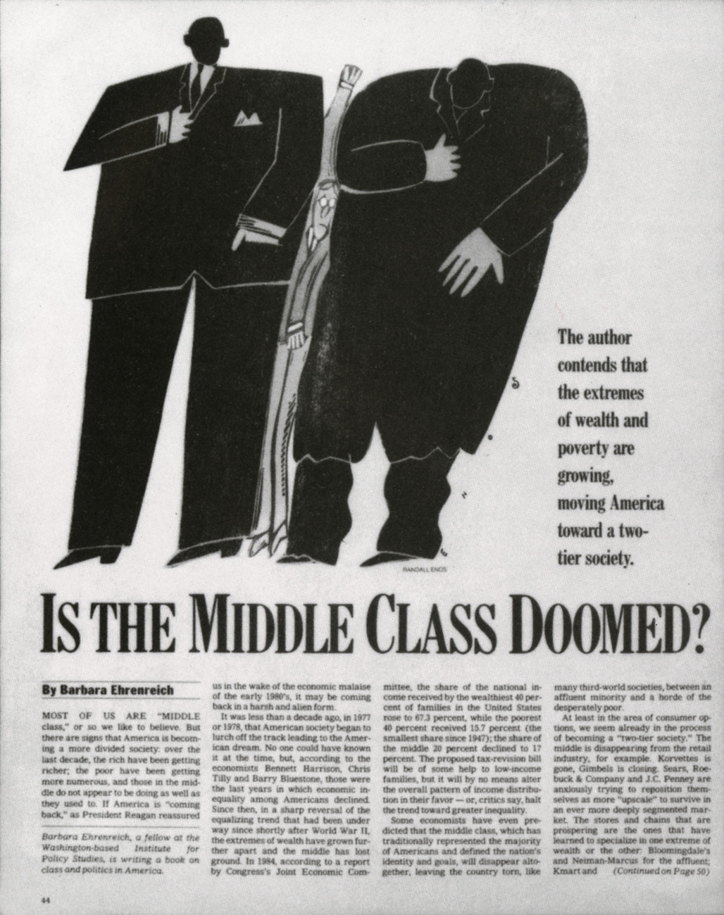 Is the Middle Class Doomed? Diane LaGuardia, 1986