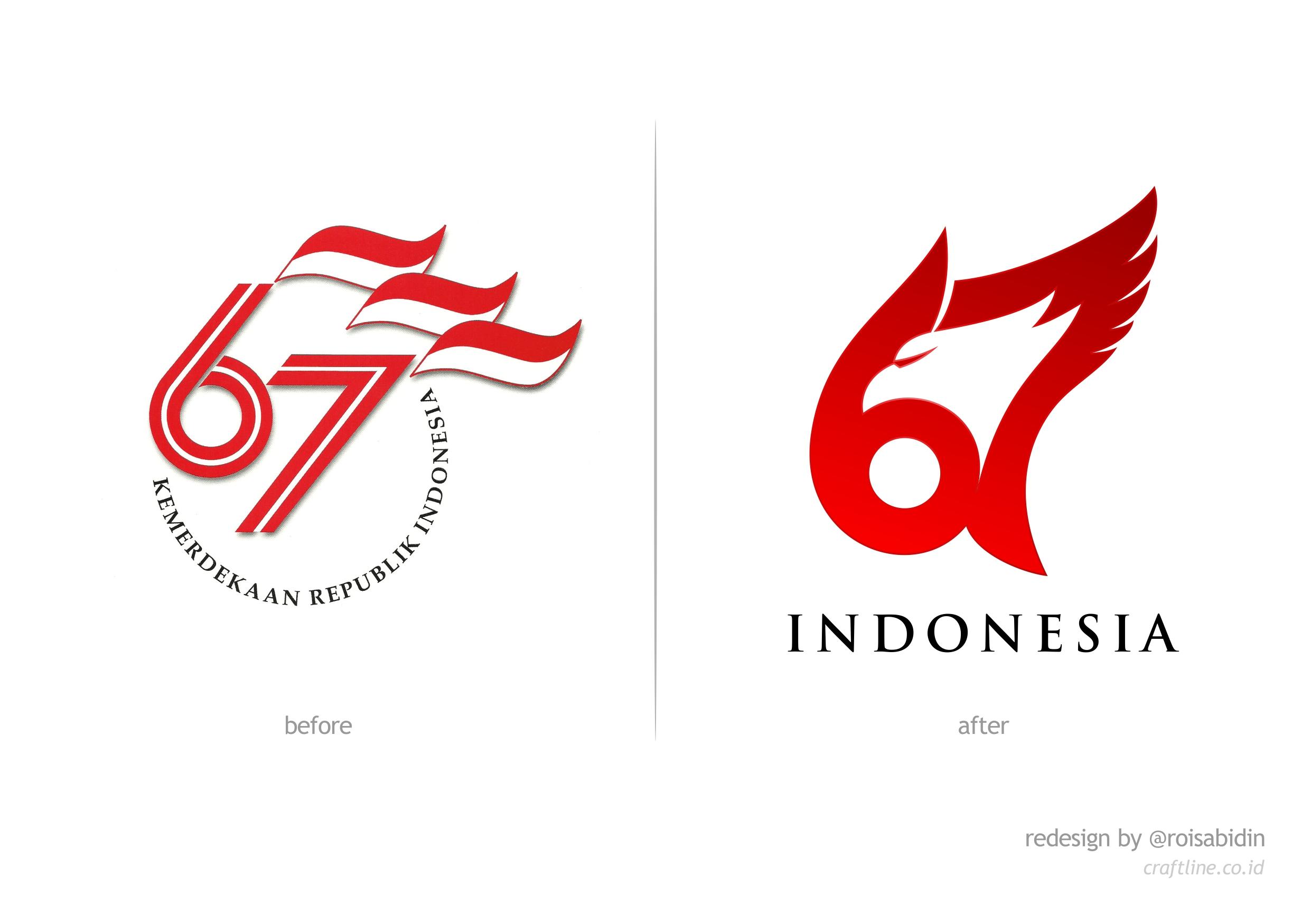 Perwajahan Ulang Logo HUT RI ke-67 oleh Rois Abidin