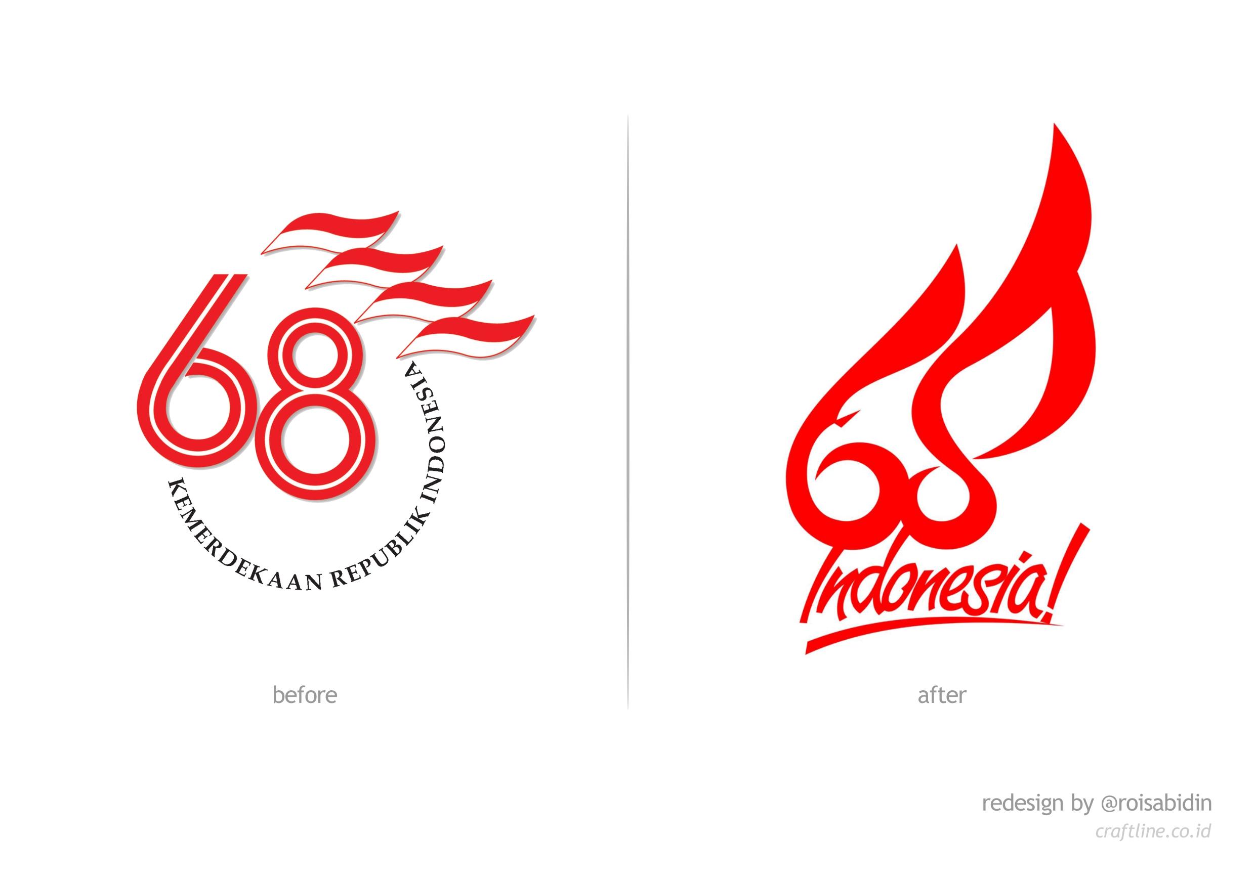 Perwajahan Ulang Logo HUT RI ke-68 oleh Rois Abidin