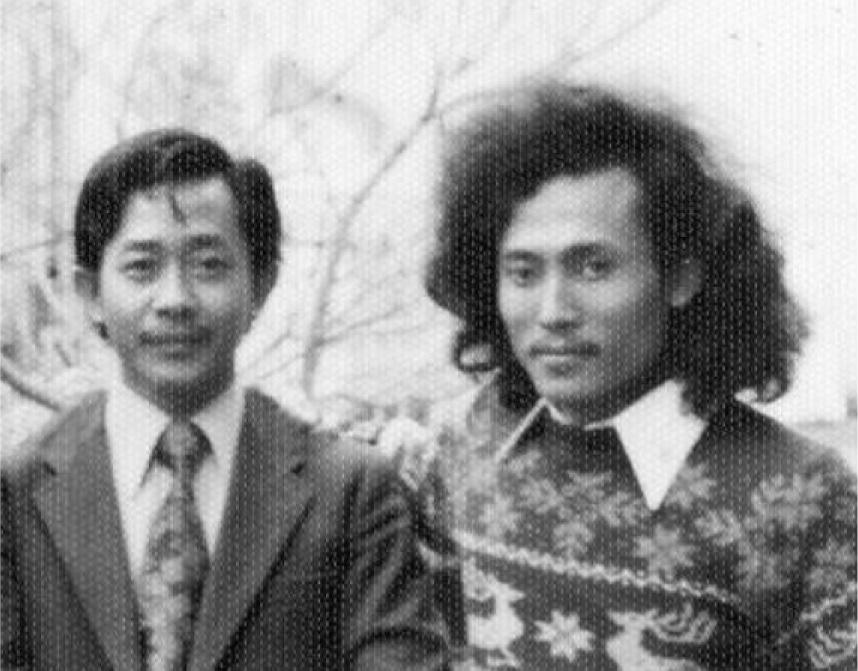 Parsuki dan Subroto, Sm, Osaka Jepang foto diambil tanggal 13 Maret 1976.  (dok: Subroto, Sm)