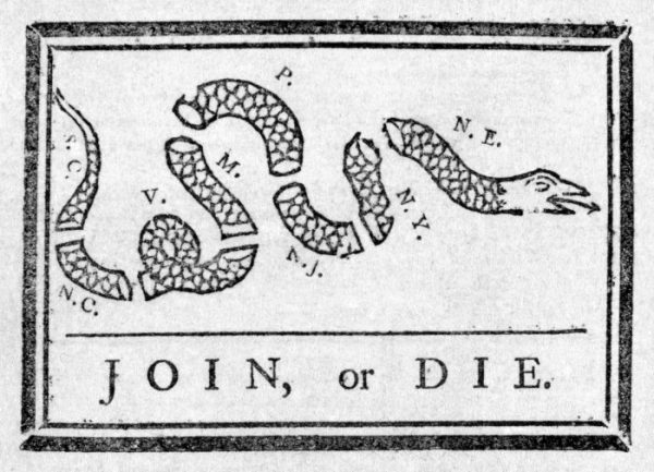 Benjamin Franklin-Join, or Die