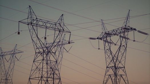 Photo of electric transmission lines.