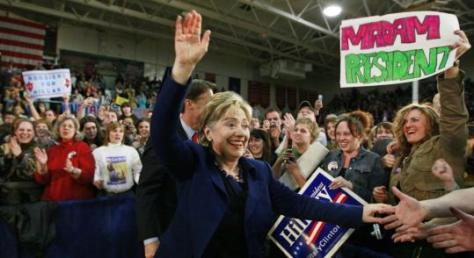 Hillary Campaigning