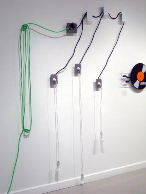 Arcade Robot (detail of light sensitive laser targets)