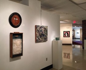My piece near Andy Warhol's work at The Schumacher Gallery