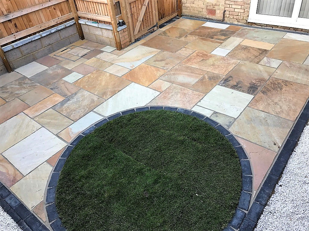 Landscape project, our latest - final front and back garden photos.