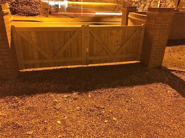 new driveway and gate