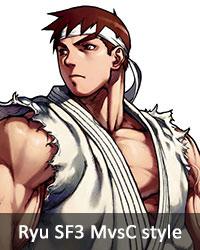 Ryu SF3 MvsC style
