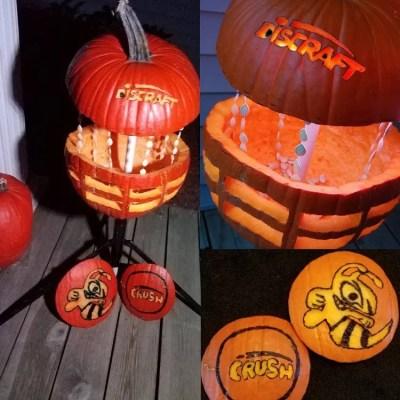 halloween disc golf pumpkin carving