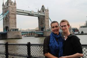 Mrs. Smith and I at London Bridge 2014