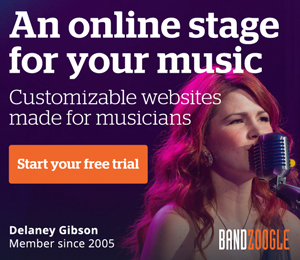 bandzoogle websites for musicians customizeable websites made for musicians free trial