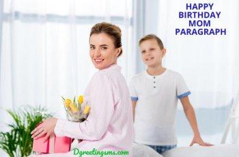 Happy birthday mom paragraph