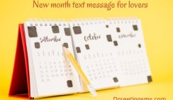 New Month Text Message For Lovers
