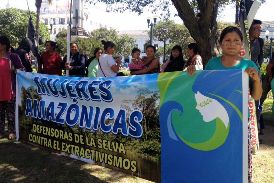 "Ecuador's Indigenous Women's Restless Defense of the Amazon ""Living Forest"""