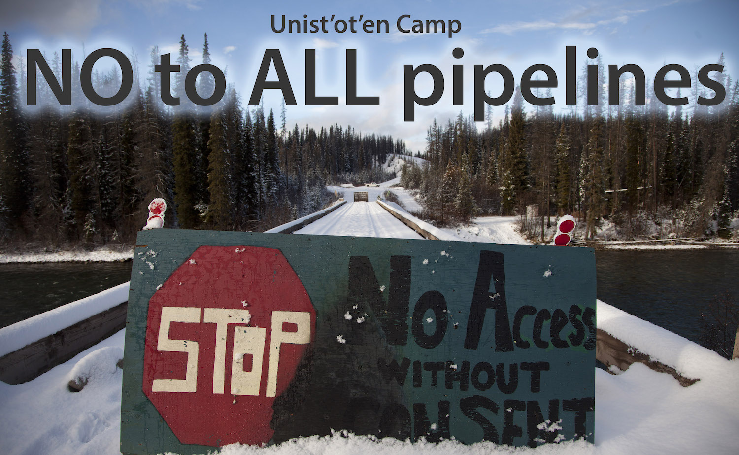 Unist'ot'en Camp, Facing Armed Invasion By Pipeline Cops, Complies with Injunction