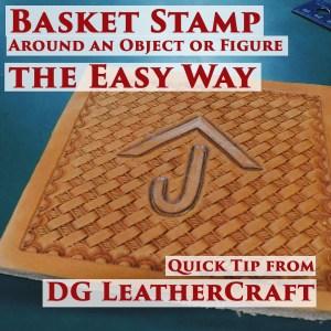 basket stamp leather