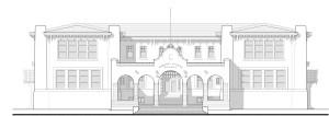 building sketch elementary colonial washington spanish sketches restorations restoration planning author illustration paintingvalley
