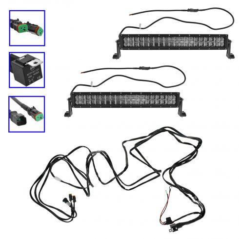 40 Inch Led Light Bar 8 40 Watt LED Light Bar Wiring