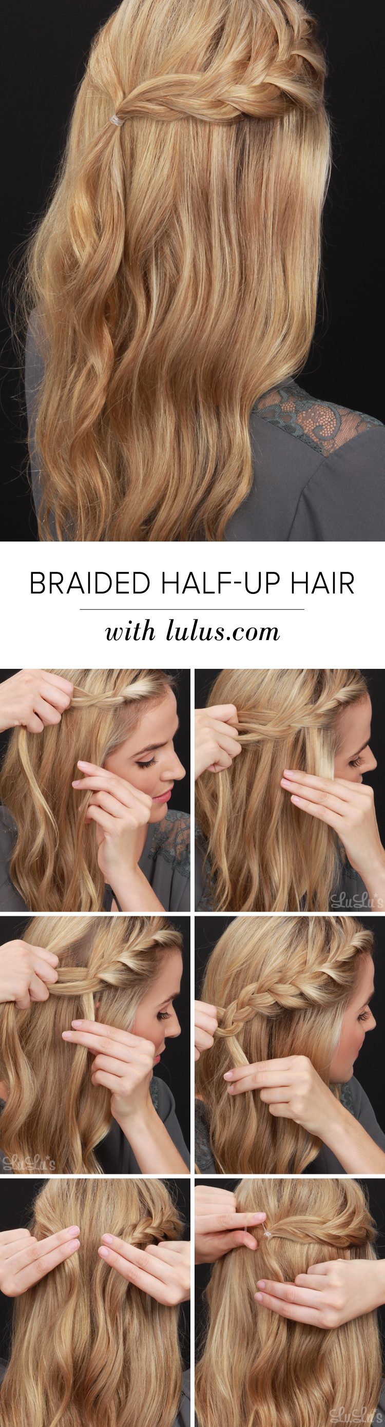 Lulus HowTo HalfUp Braided Hair Tutorial  Luluscom