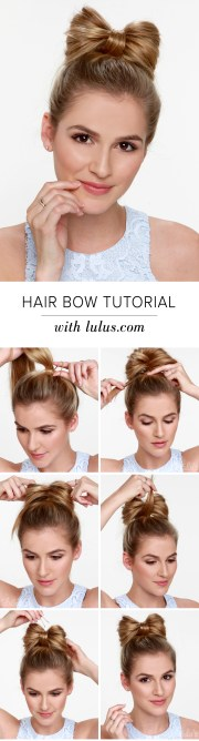 lulus - hair bow tutorial