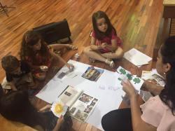 As crianças da Mooca conversaram sobre o tema durante a celebração