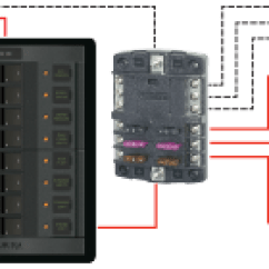 Blue Sea 5026 Wiring Diagram Schumacher Battery Charger St Blade Fuse Block - 12 Circuits With Negative Bus And Cover Systems