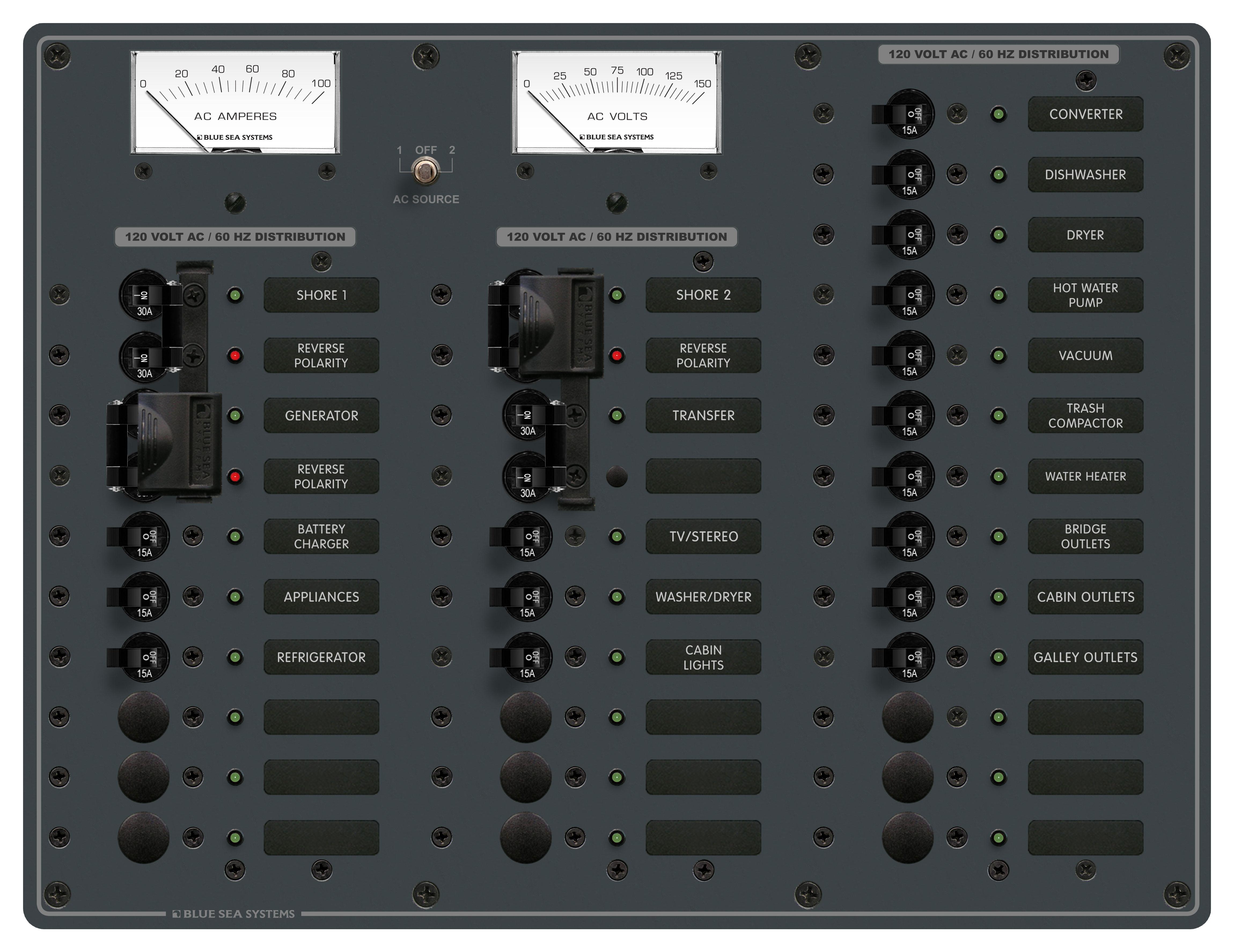 Panelsourceselspl 120vac 33p V A Bl