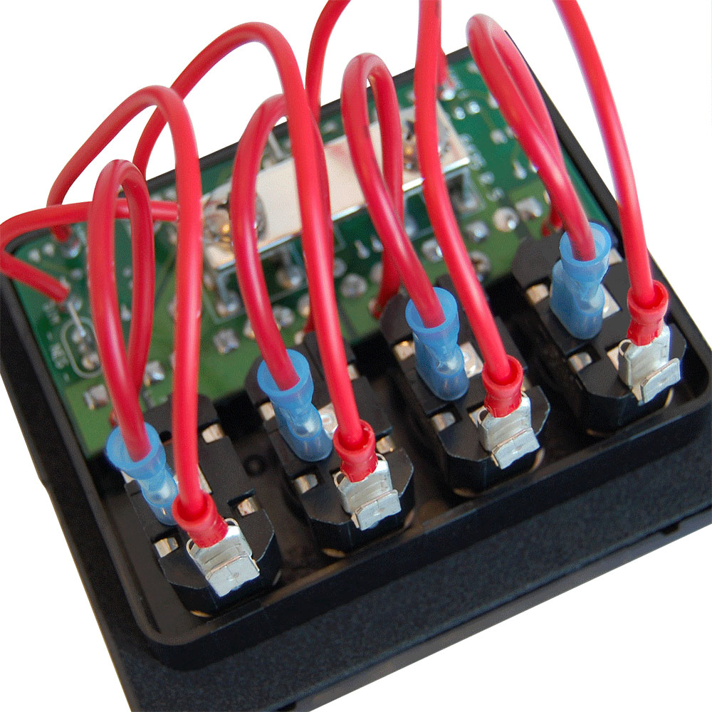 hight resolution of weatherdeck 12v dc waterproof fuse panel gray 4 positions blue sea systems