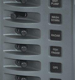 weatherdeck 12v dc waterproof switch panel 6 position blue sea [ 770 x 1246 Pixel ]
