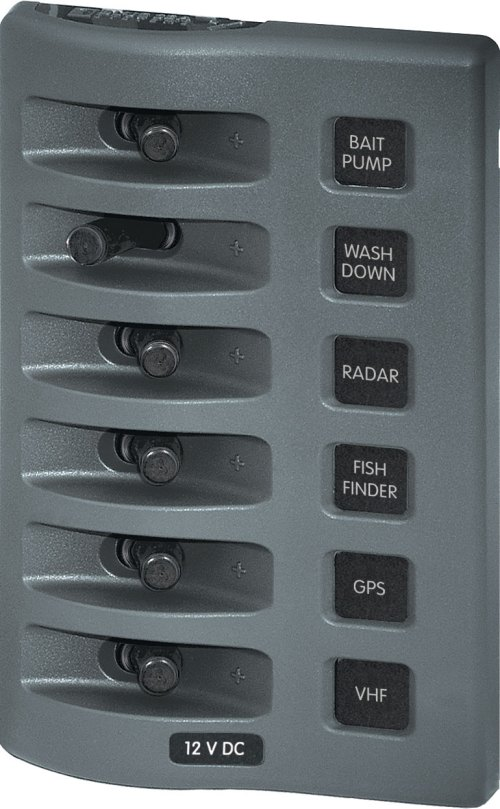 small resolution of weatherdeck 12v dc waterproof switch panel 6 position blue sea