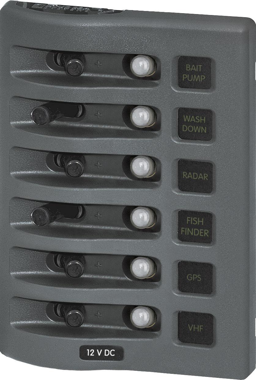 Boat Light Wiring Diagram Weatherdeck 174 12v Dc Waterproof Circuit Breaker Panel