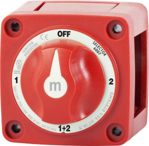 mSeries Mini Selector Battery Switch  Red  Blue Sea Systems