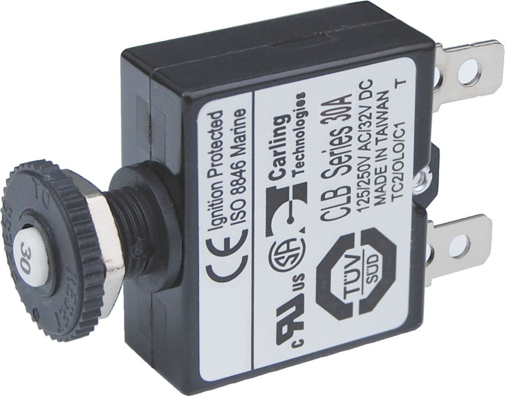medium resolution of push button reset only quick connect circuit breaker 30 amps