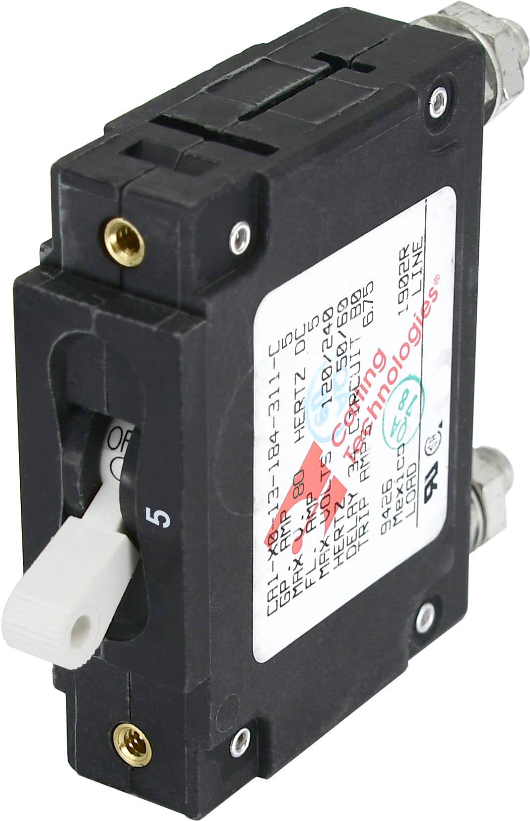 C Series White Toggle Circuit Breaker