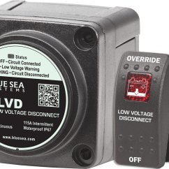 Blue Sea Mini Add A Battery Wiring Diagram 1999 Nissan Altima Radio M Lvd Low Voltage Disconnect Systems Product Image