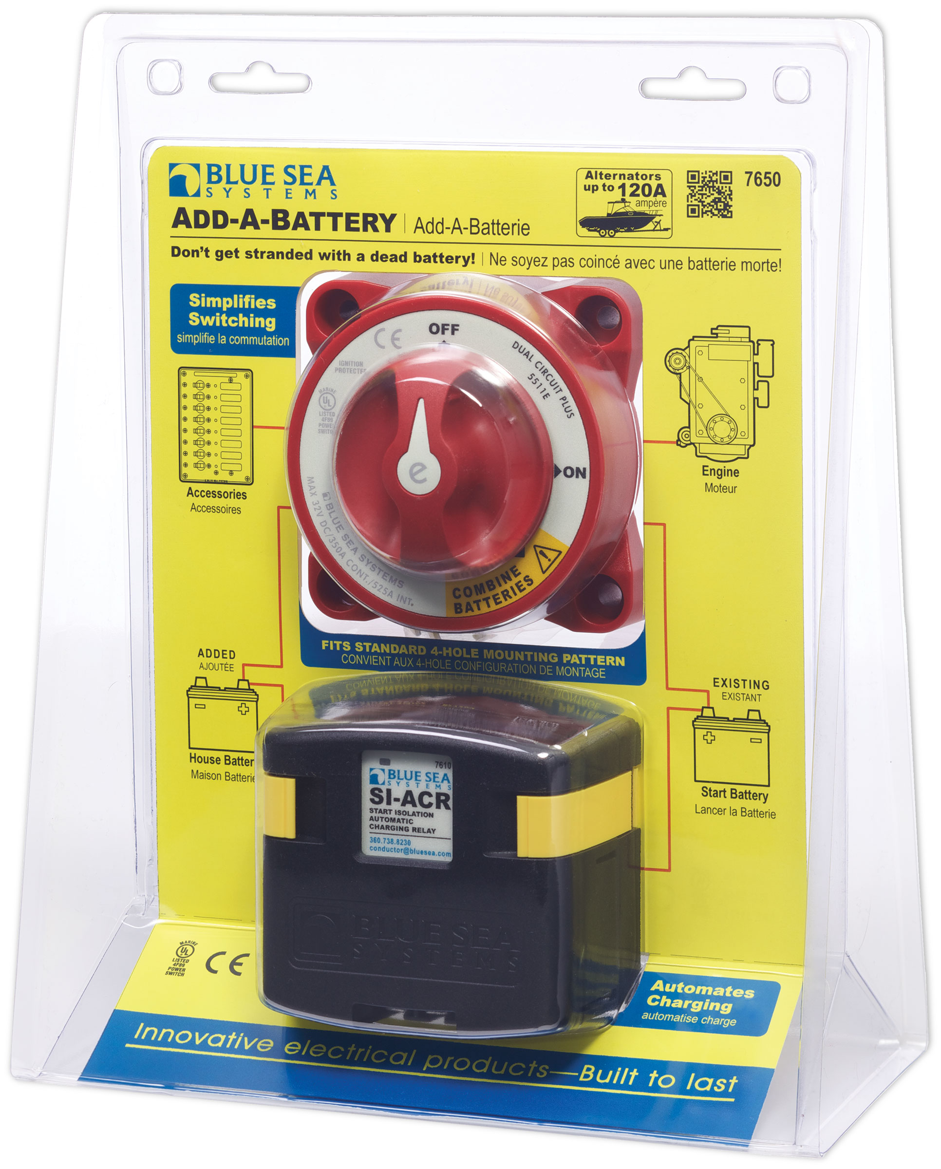 blue sea mini add a battery wiring diagram pioneer remote kit 120a systems