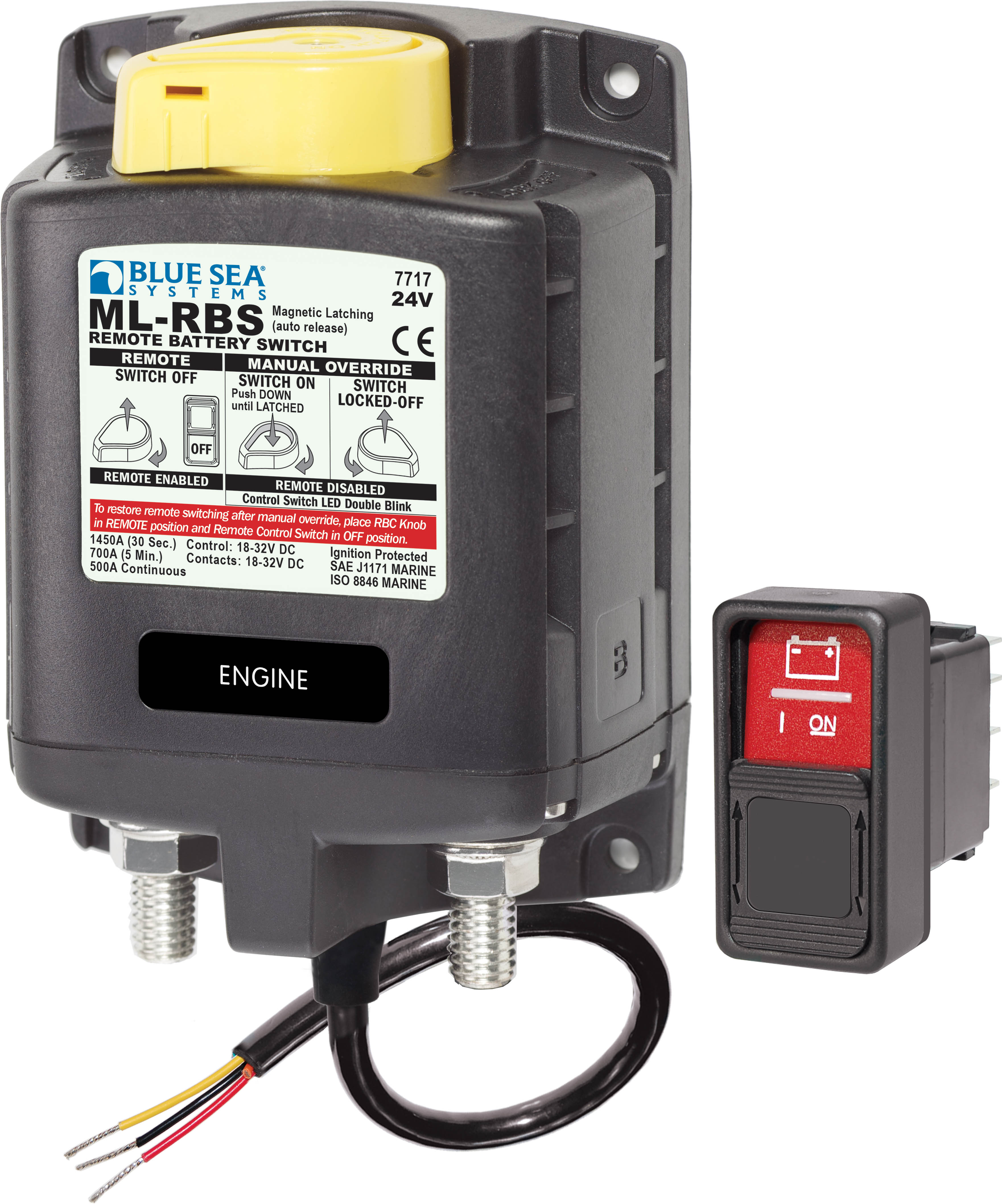 Ml Rbs Remote Battery Switch With Manual Control Auto Release