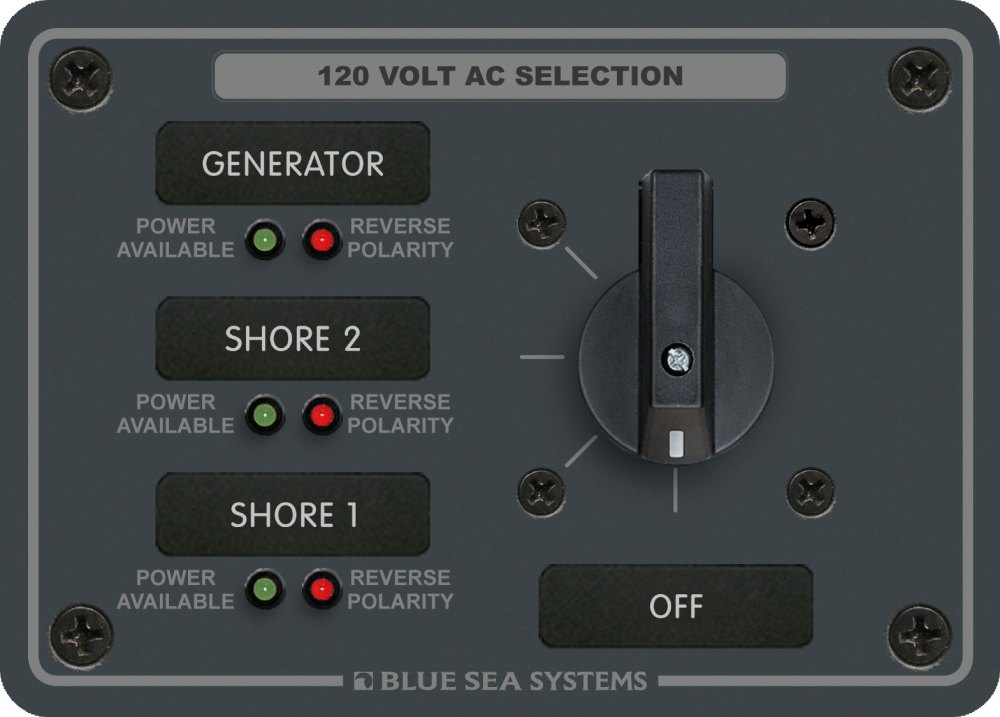 medium resolution of ac rotary switch panel 30 ampere 3 positions off 2 pole blue blue sea 9010 ac wiring diagram