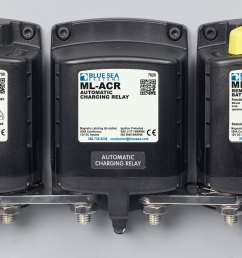 ml acr automatic charging relay with manual control 12v dc 500a blue sea systems [ 2400 x 1324 Pixel ]