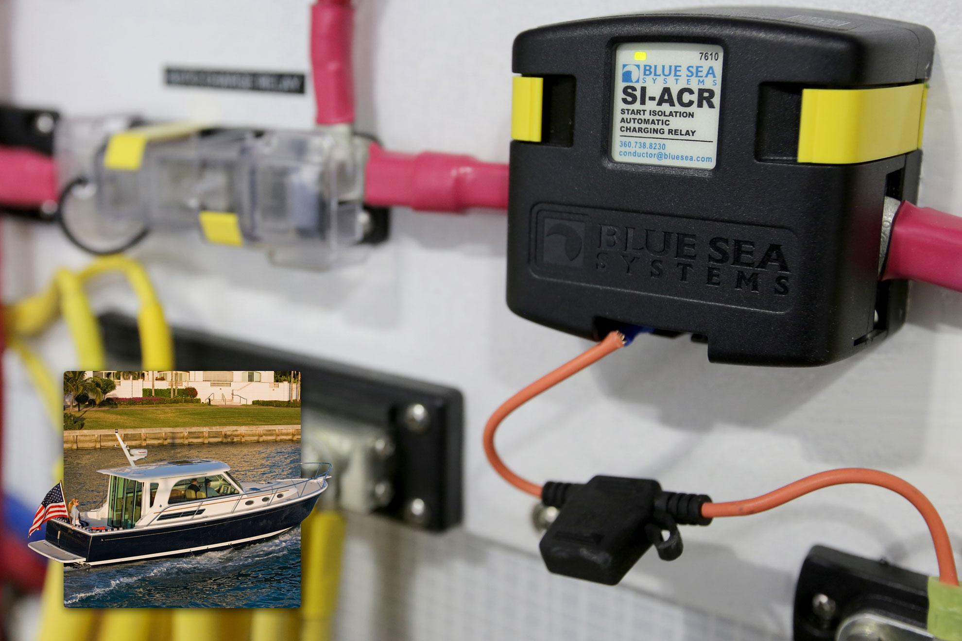 12 volt wiring diagram for boats gfci feed through method si-acr automatic charging relay - 12/24v dc 120a blue sea systems