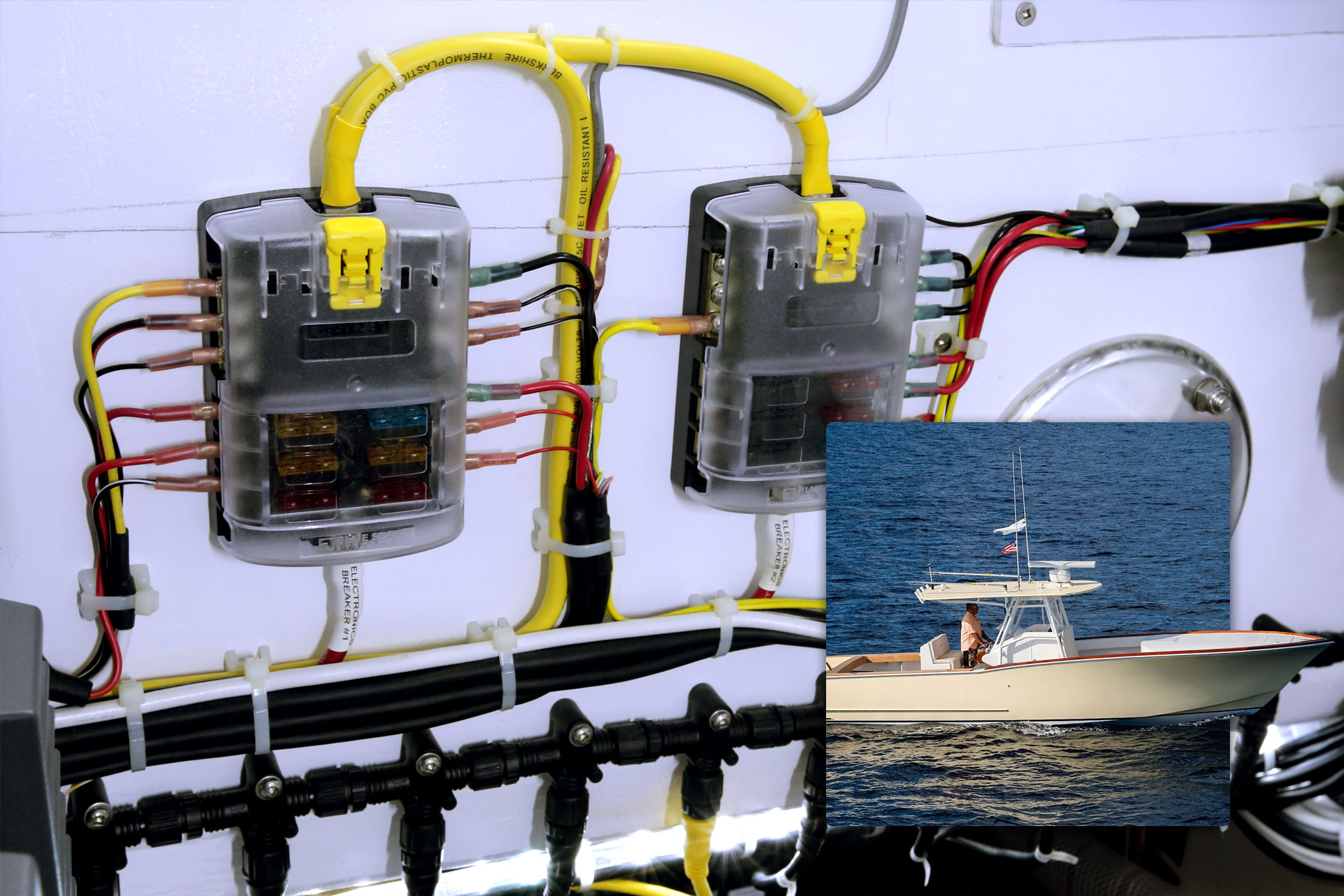 hight resolution of st blade fuse block 6 circuits with negative bus and cover blue sea systems