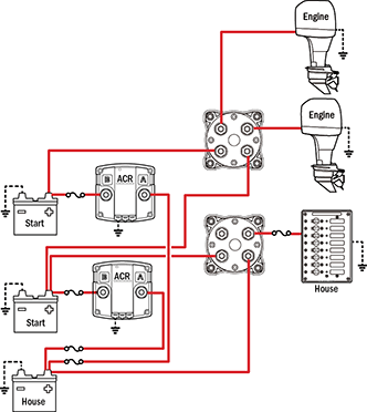 blue sea add a battery wiring diagram shower extractor fan with timer management schematics for typical applications simple operation can parallel batteries extra starting power