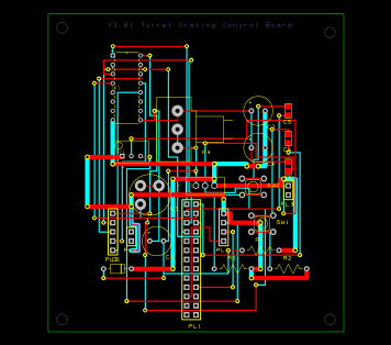 PCB circuit designed by me using DesignSpark, this is the interface terminal for the Mega 2560 MCU.