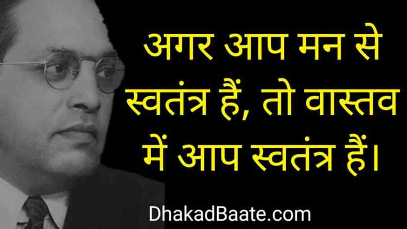 Babasaheb Ambedkar Hindi Quotes