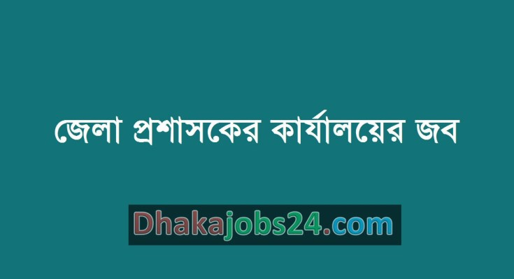 District Commissioner Office Job 2019