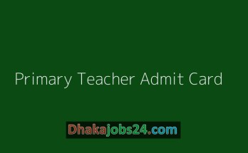 Primary Teacher Admit Card Download 2019