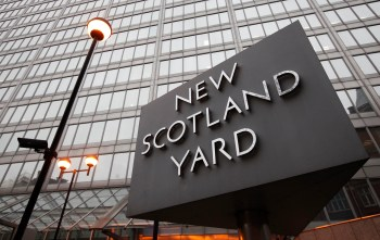 New Scotland Yard police headquarters is seen in London