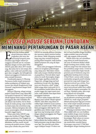 Closed House Sebuah Tuntutan Memenangi Pertarungan Di Pasar ASEAN - Page 1