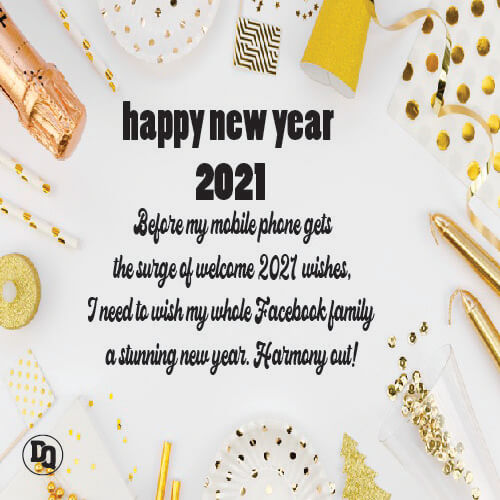 Happy New Year Status for Facebook