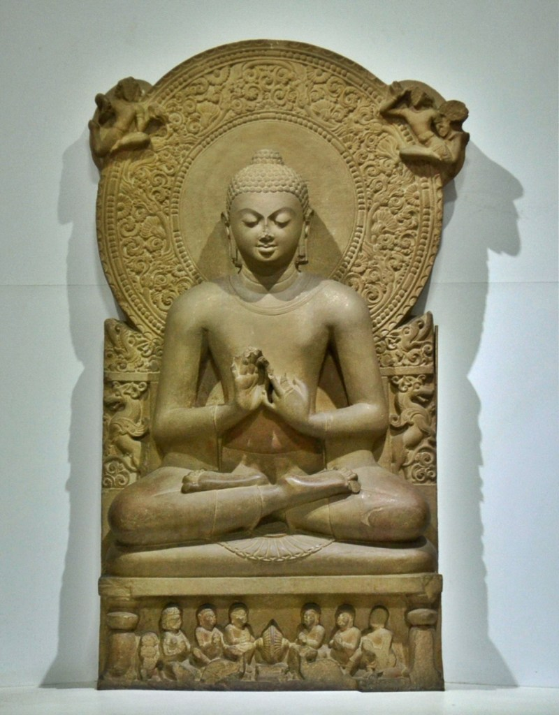 Seated Buddha with teaching mudra. Sarnath Museum. Gupta period. 5th CE